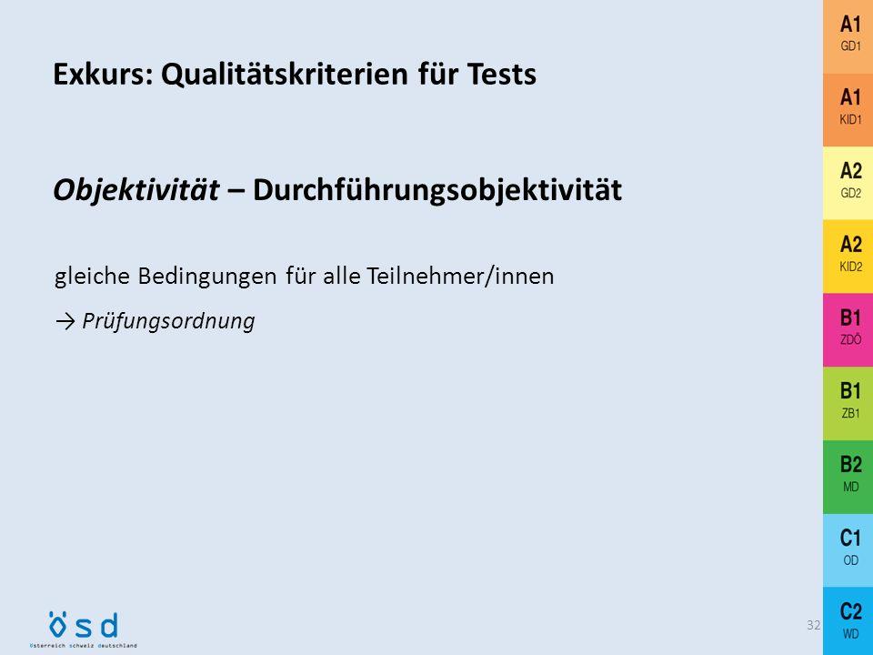 Exkurs: Qualitätskriterien für Tests