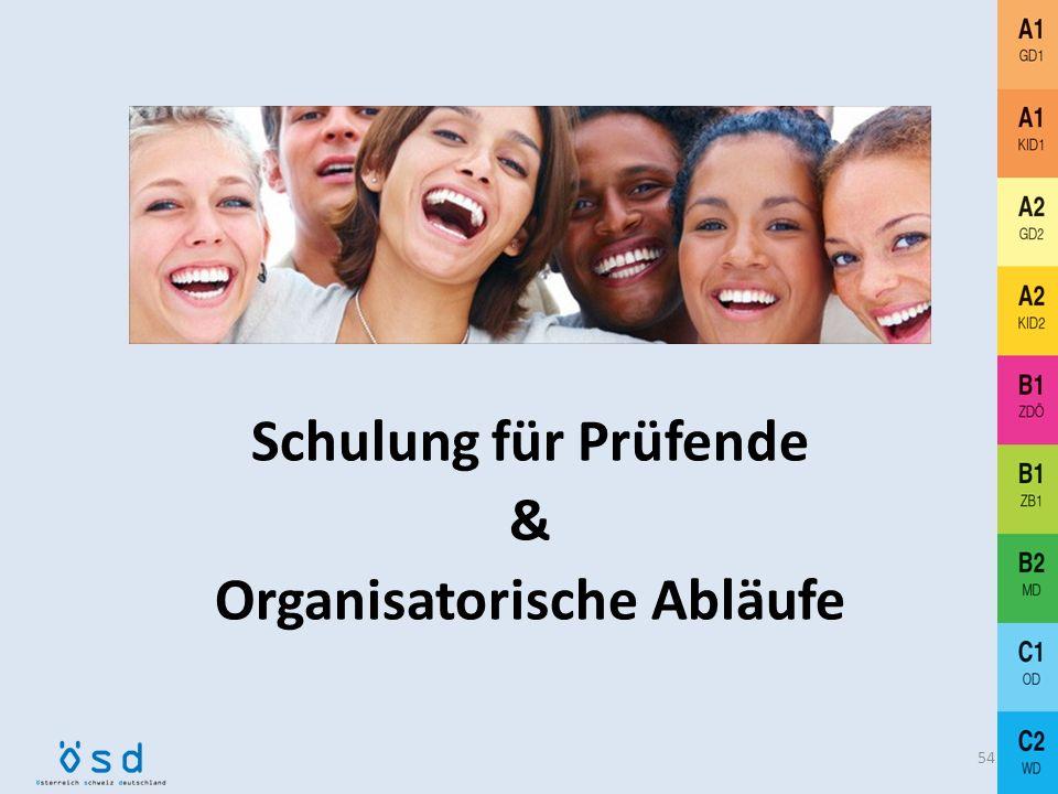Schulung für Prüfende & Organisatorische Abläufe