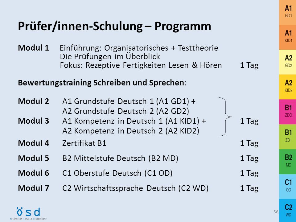 Prüfer/innen-Schulung – Programm