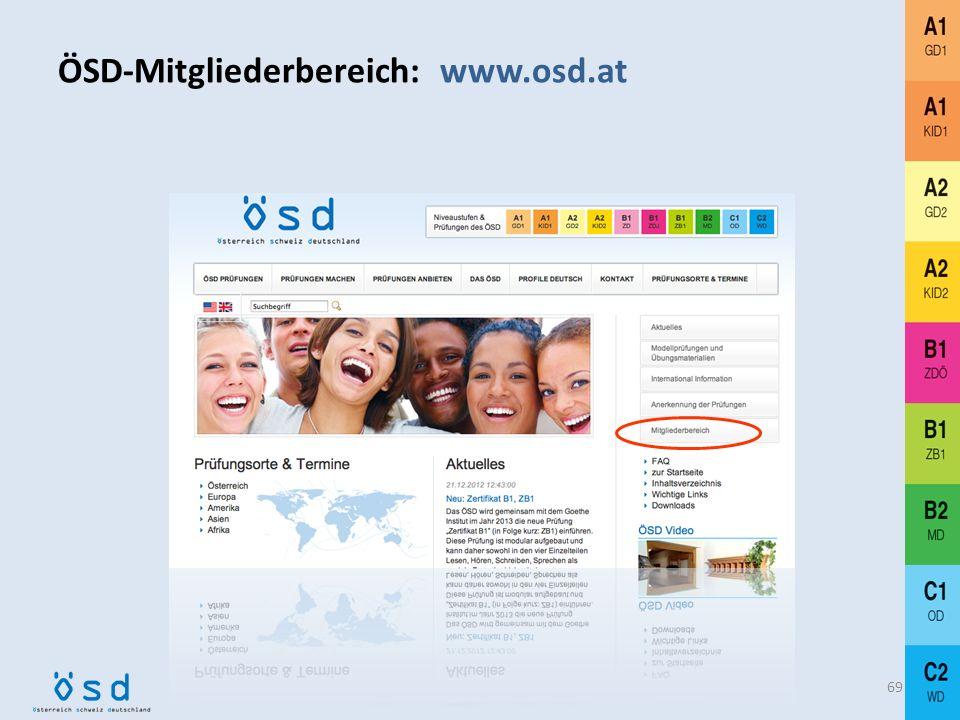 ÖSD-Mitgliederbereich: www.osd.at