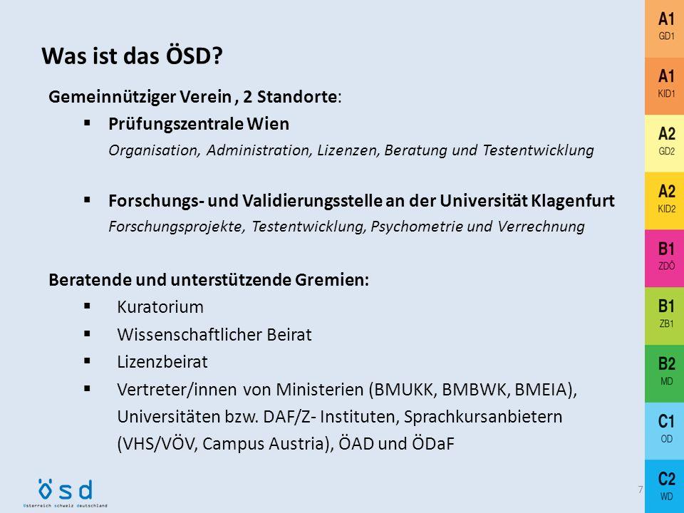 Was ist das ÖSD Gemeinnütziger Verein , 2 Standorte: