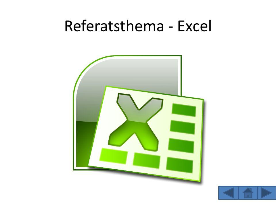 Referatsthema - Excel