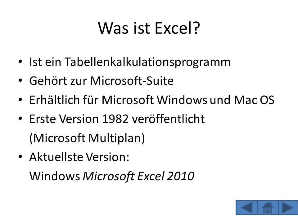 Was ist Excel Ist ein Tabellenkalkulationsprogramm