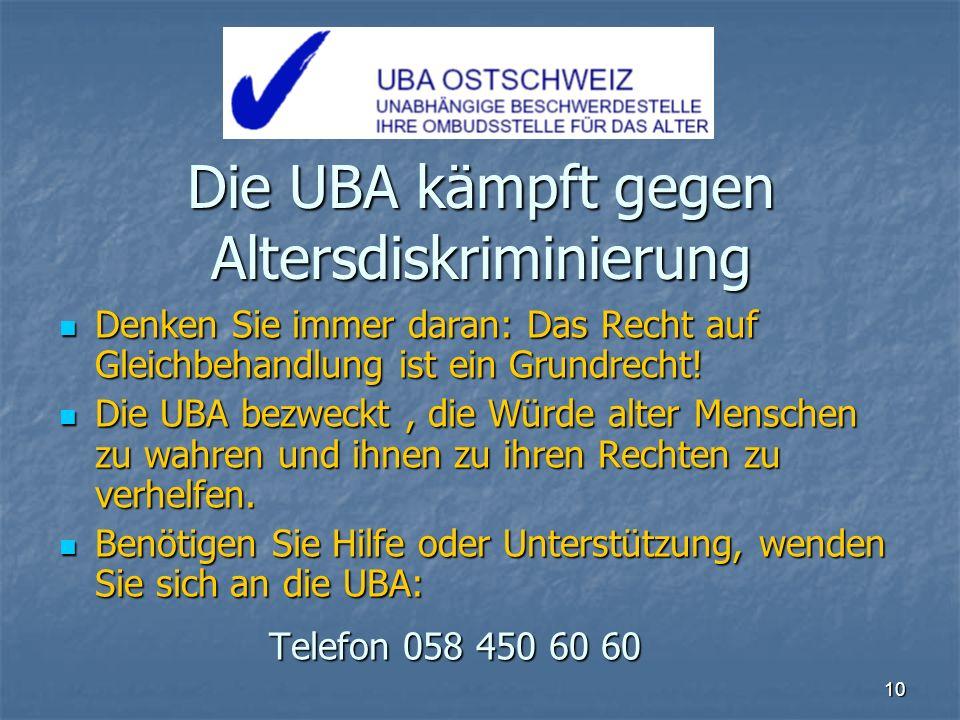 Die UBA kämpft gegen Altersdiskriminierung