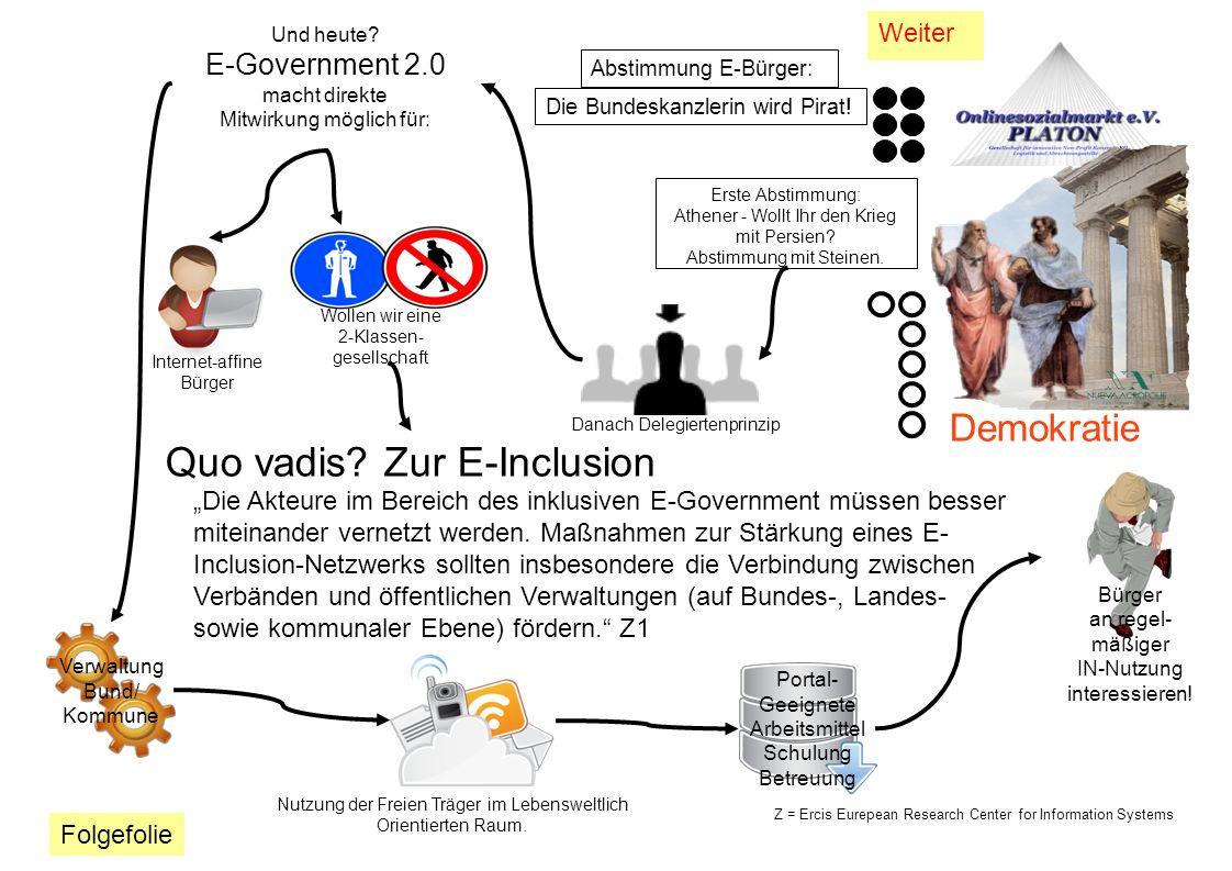 Quo vadis Zur E-Inclusion