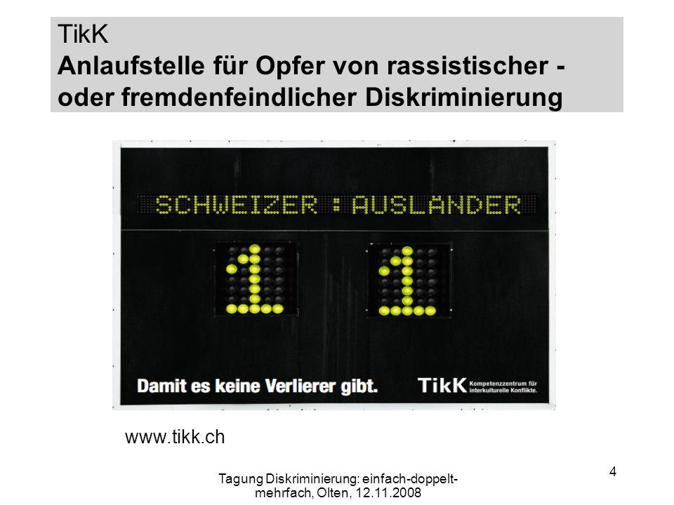 Tagung Diskriminierung: einfach-doppelt-