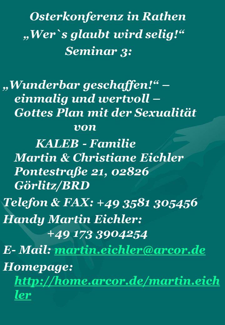 Osterkonferenz in Rathen