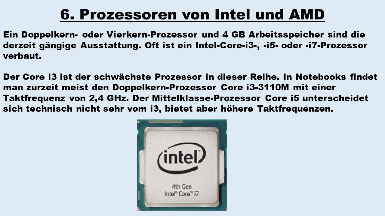 6. Prozessoren von Intel und AMD