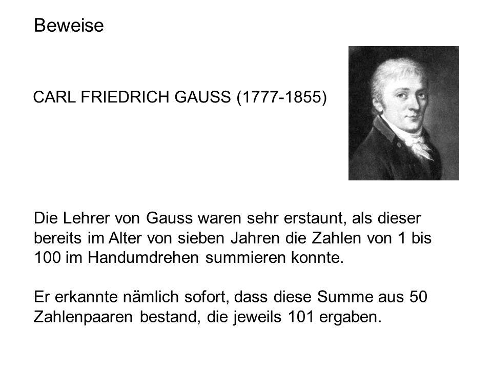 Beweise CARL FRIEDRICH GAUSS (1777-1855)