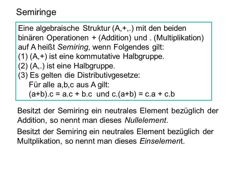 Semiringe