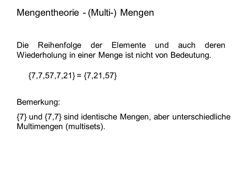 Mengentheorie - (Multi-) Mengen