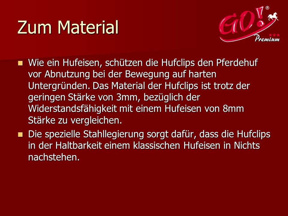 Zum Material