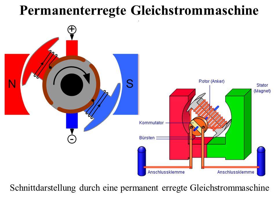 Permanenterregte Gleichstrommaschine