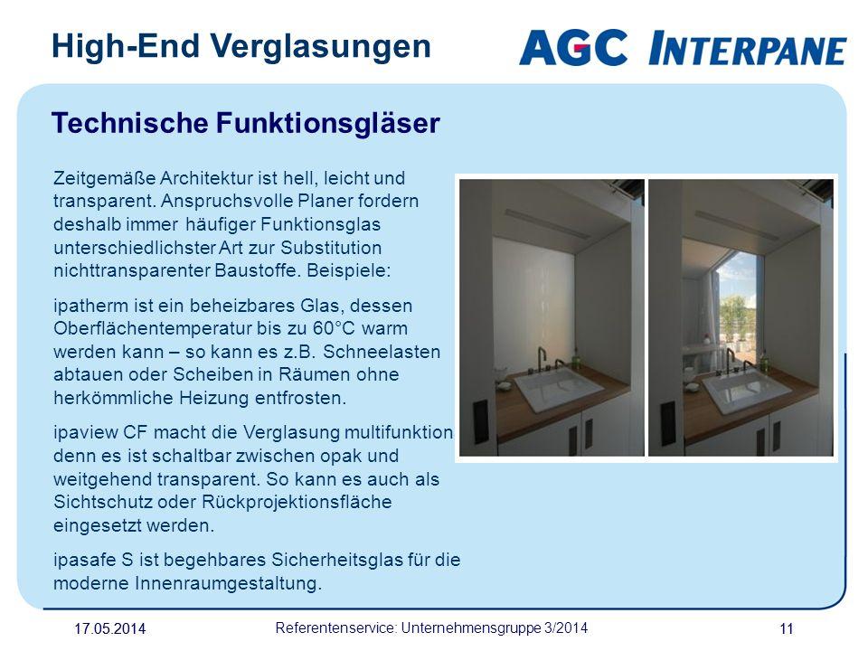 Referentenservice: Unternehmensgruppe 3/2014