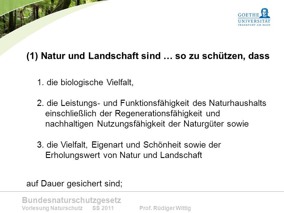 Natur und Landschaft sind … so zu schützen, dass
