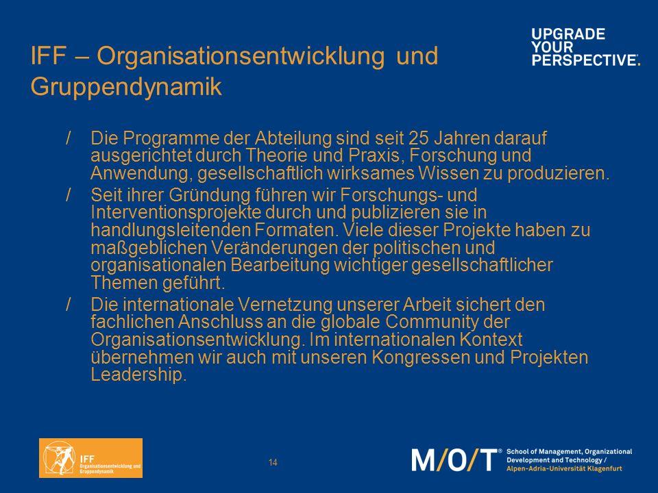 IFF – Organisationsentwicklung und Gruppendynamik