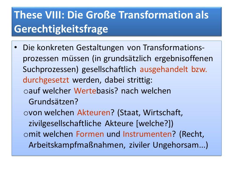 These VIII: Die Große Transformation als Gerechtigkeitsfrage