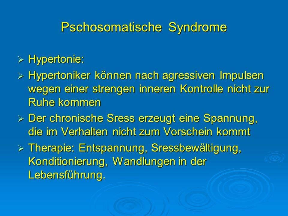 Pschosomatische Syndrome