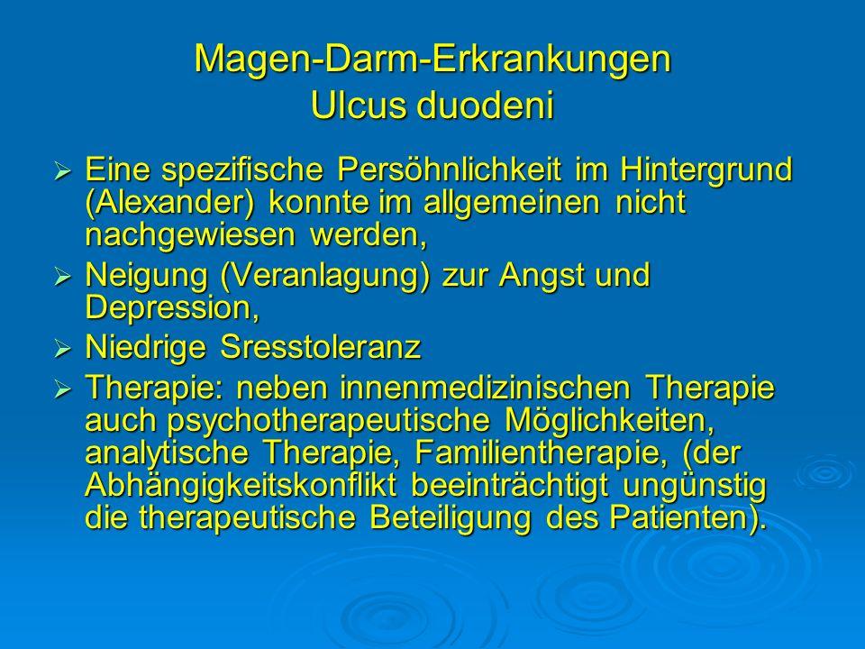 Magen-Darm-Erkrankungen Ulcus duodeni