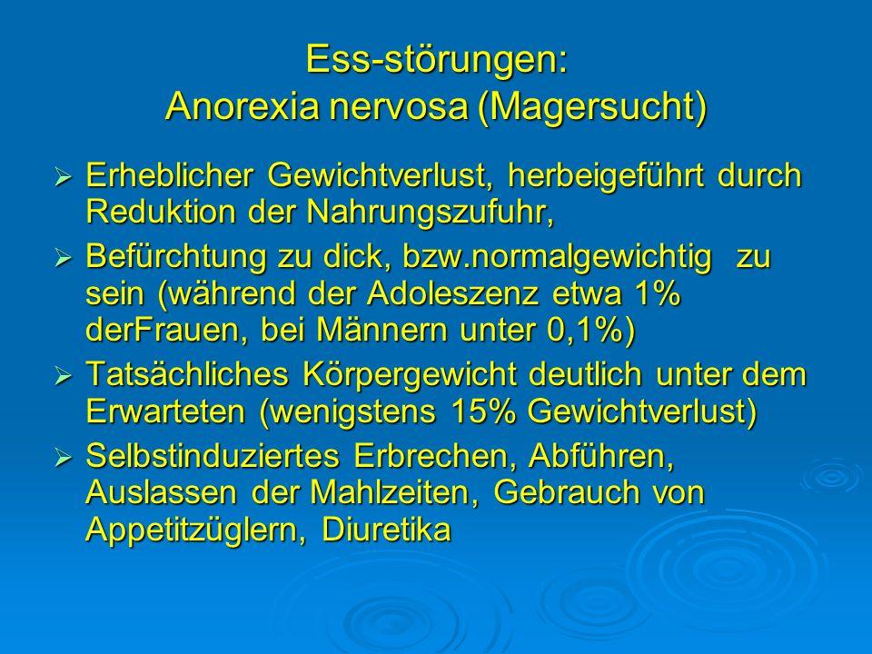 Ess-störungen: Anorexia nervosa (Magersucht)