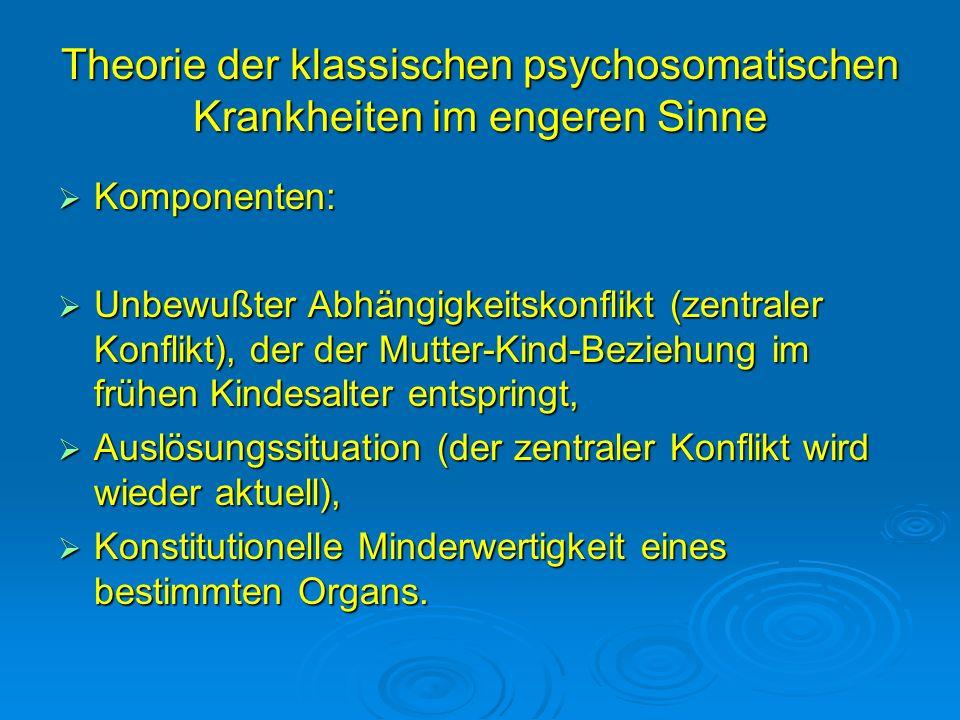 Theorie der klassischen psychosomatischen Krankheiten im engeren Sinne