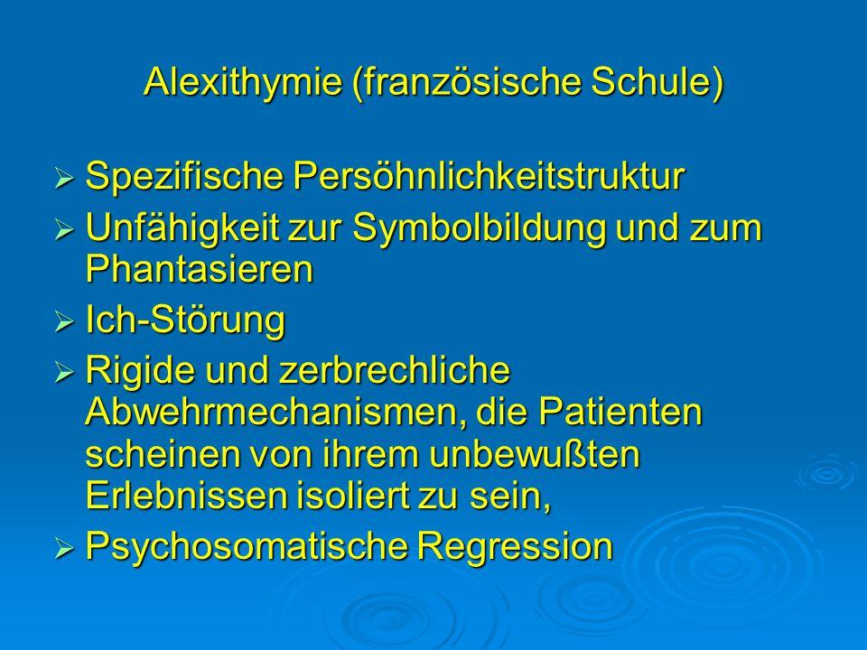 Alexithymie (französische Schule)