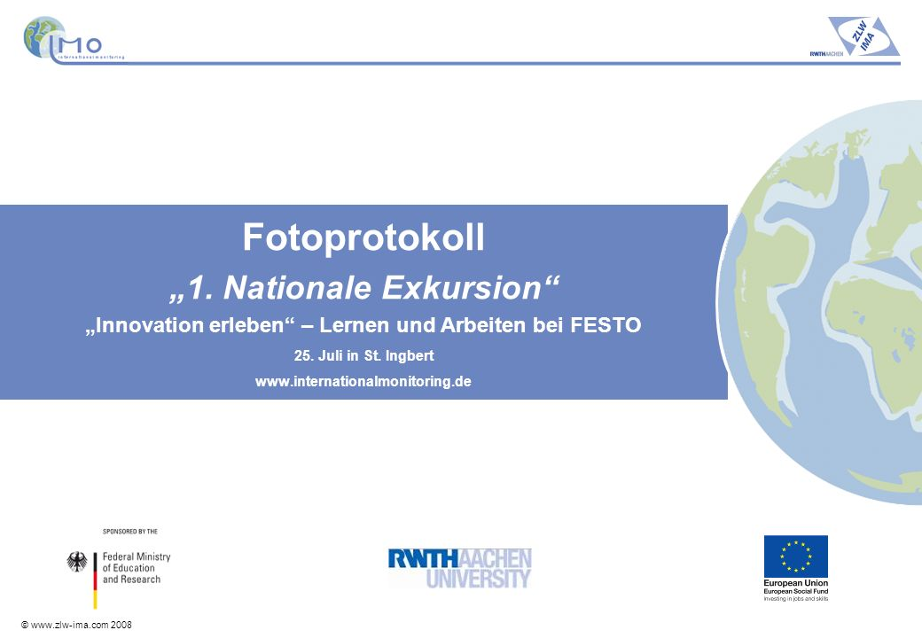 "Fotoprotokoll ""1. Nationale Exkursion"