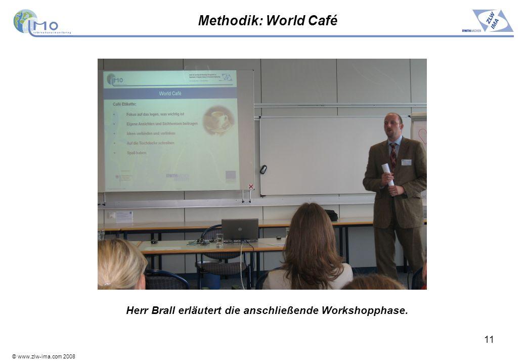 Herr Brall erläutert die anschließende Workshopphase.