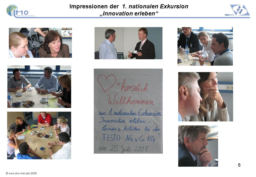 "Impressionen der 1. nationalen Exkursion ""Innovation erleben"