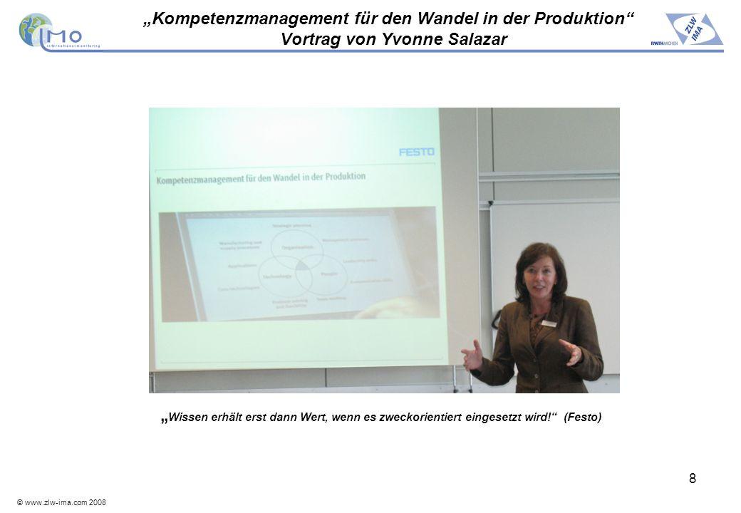 """""""Kompetenzmanagement für den Wandel in der Produktion Vortrag von Yvonne Salazar"""