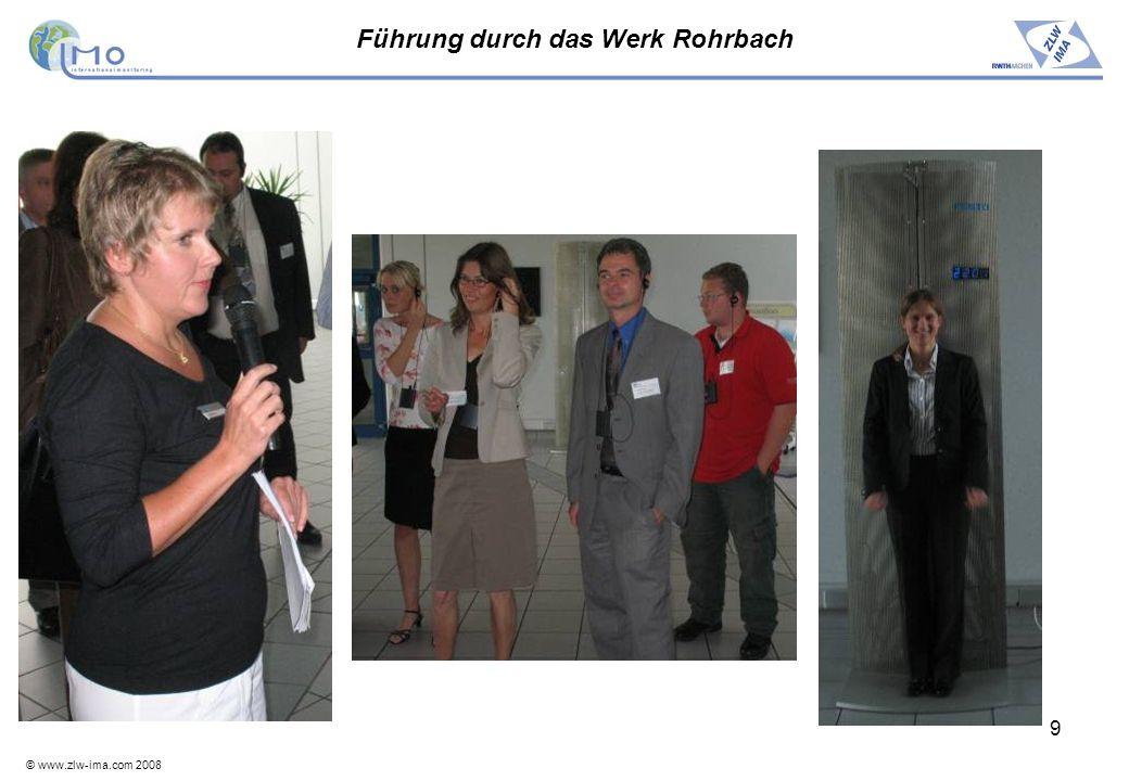 Führung durch das Werk Rohrbach