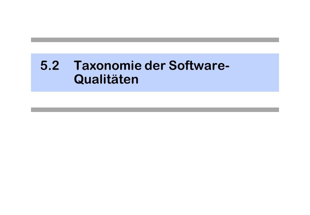 5.2 Taxonomie der Software-Qualitäten