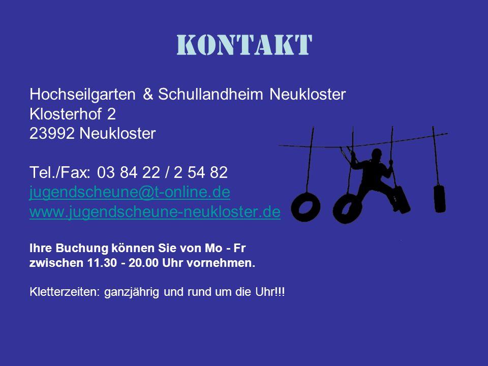 Kontakt Hochseilgarten & Schullandheim Neukloster Klosterhof 2