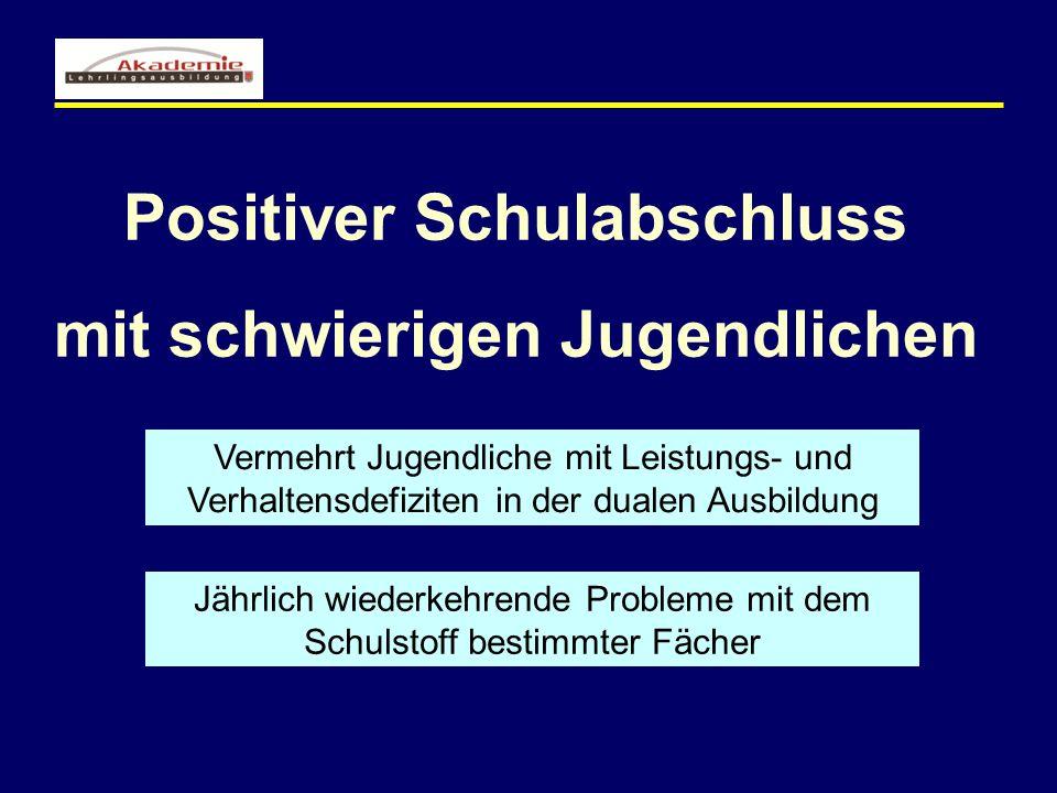 Positiver Schulabschluss mit schwierigen Jugendlichen