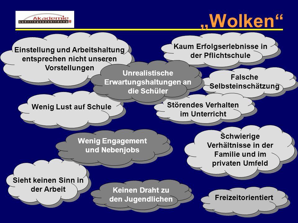 """""""Wolken Kaum Erfolgserlebnisse in der Pflichtschule"""