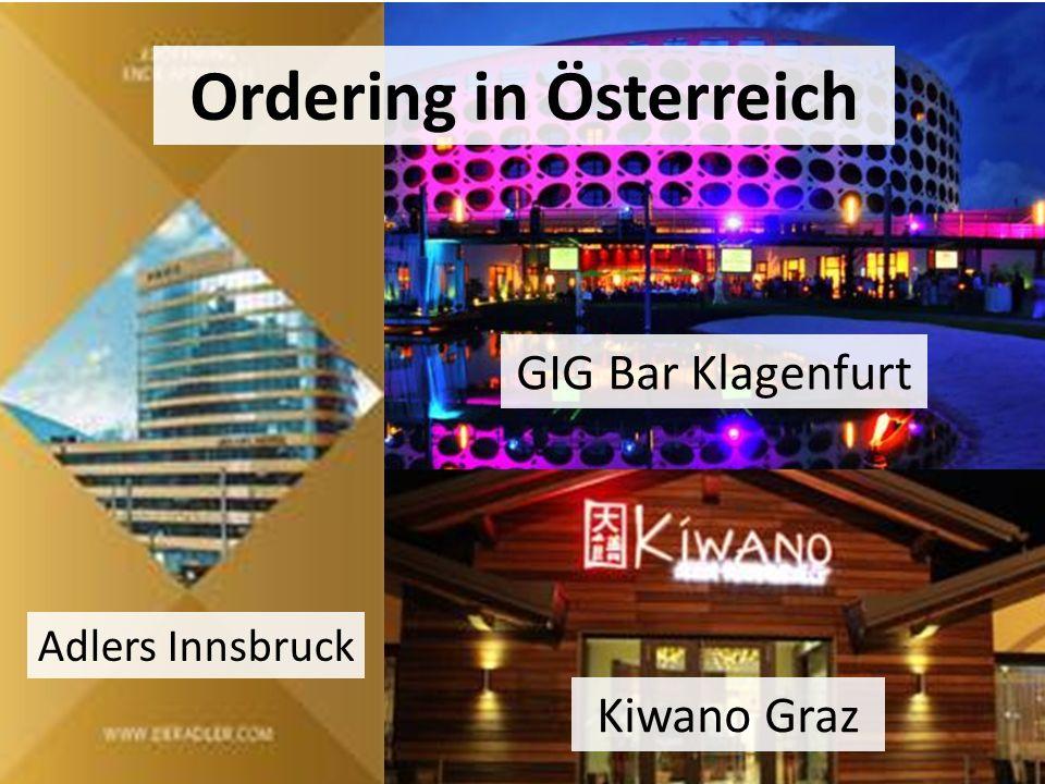 Ordering in Österreich