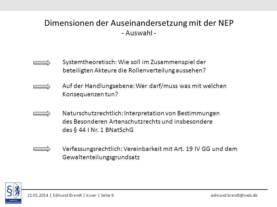 Dimensionen der Auseinandersetzung mit der NEP - Auswahl -