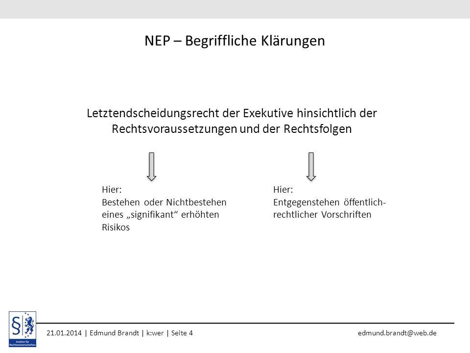 NEP – Begriffliche Klärungen