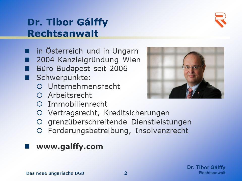 Dr. Tibor Gálffy Rechtsanwalt