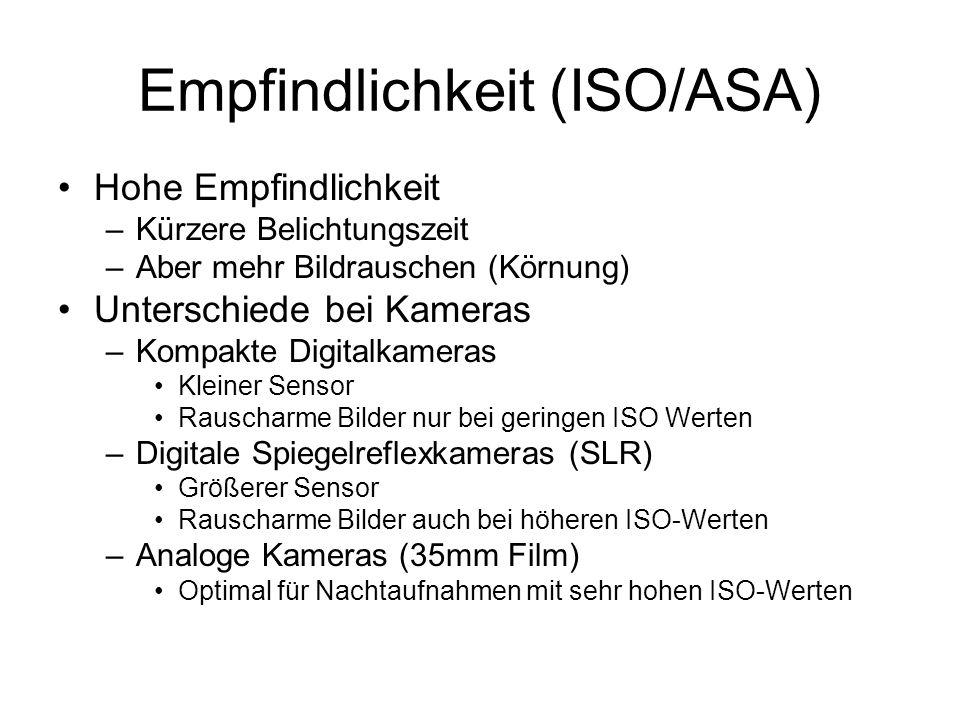 Empfindlichkeit (ISO/ASA)