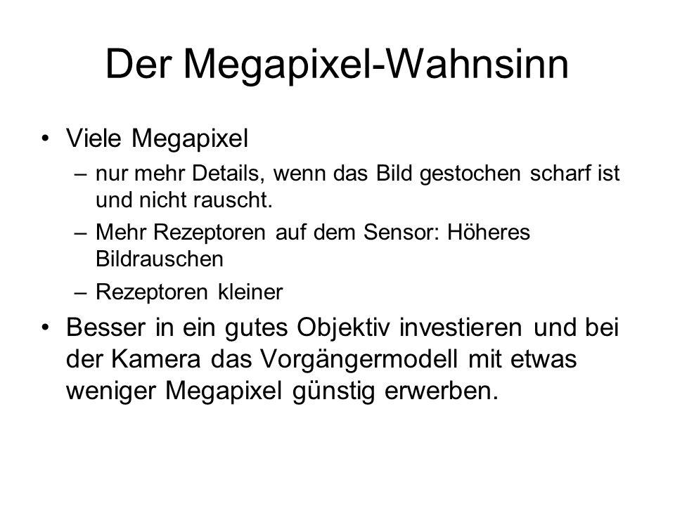 Der Megapixel-Wahnsinn