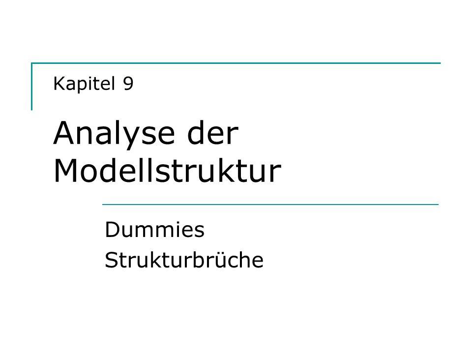 Kapitel 9 Analyse der Modellstruktur