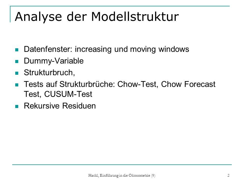 Analyse der Modellstruktur