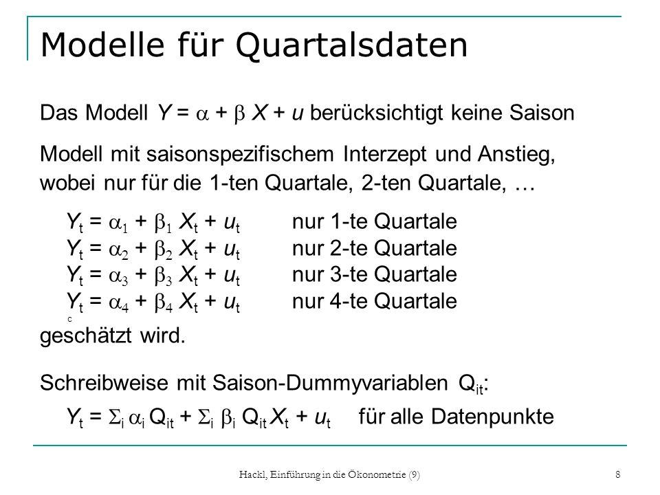 Modelle für Quartalsdaten
