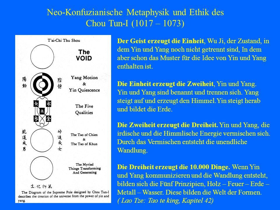 Neo-Konfuzianische Metaphysik und Ethik des