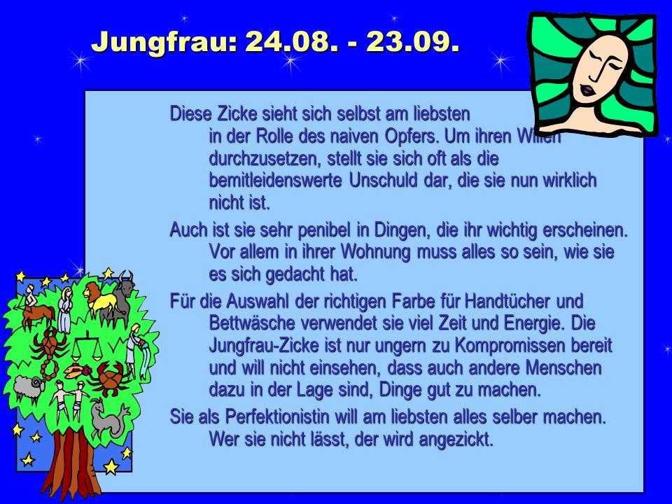 Jungfrau: 24.08. - 23.09.