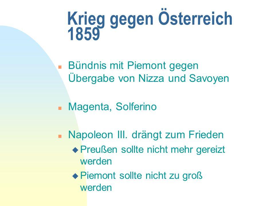 Krieg gegen Österreich 1859