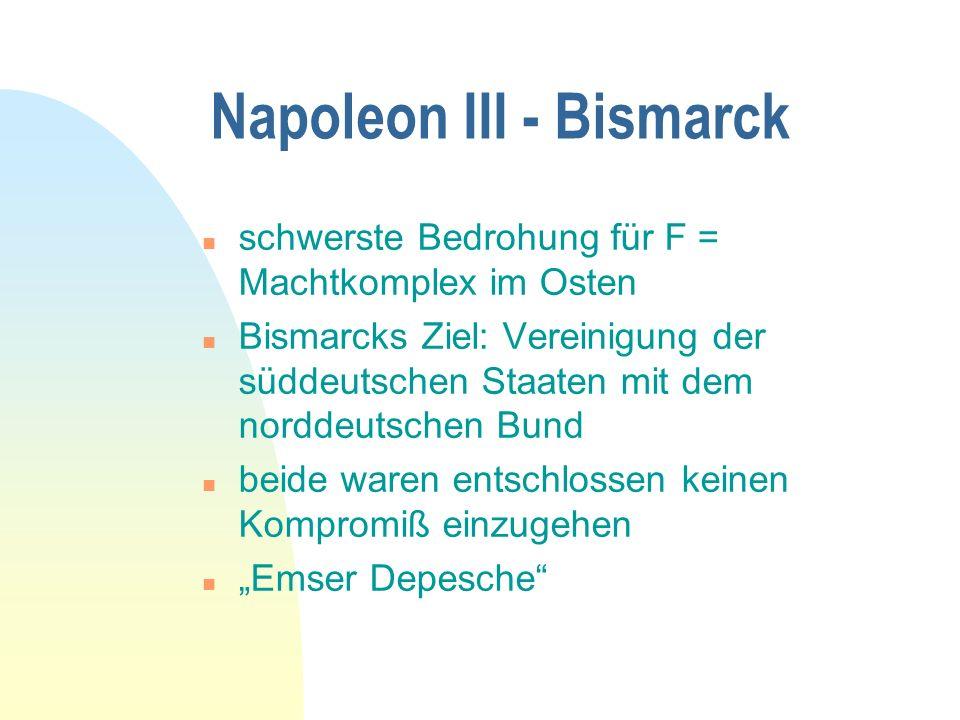 Napoleon III - Bismarck