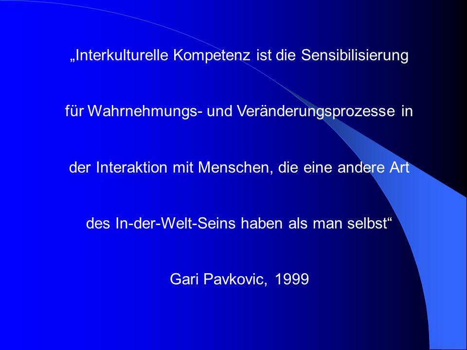 """""""Interkulturelle Kompetenz ist die Sensibilisierung"""