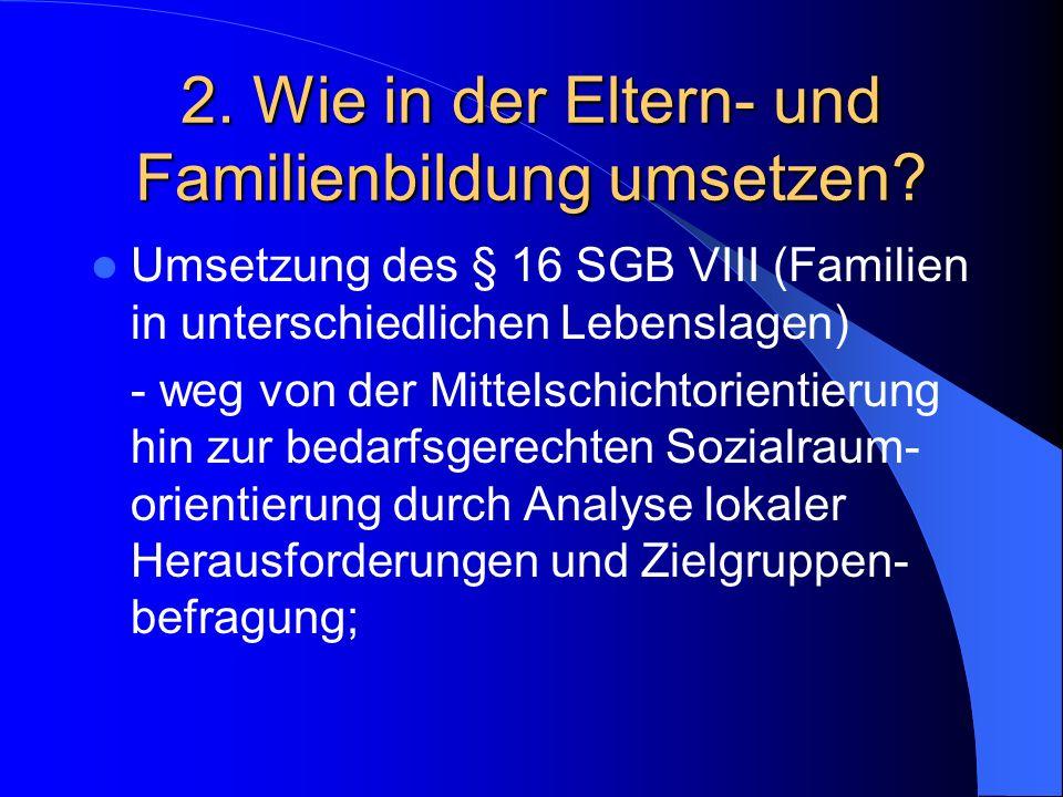 2. Wie in der Eltern- und Familienbildung umsetzen